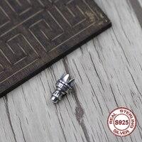 S925 sterling silber armband halskette runde perlen verstreuten losen Thai silber schmuck vintage alten diy zubehör