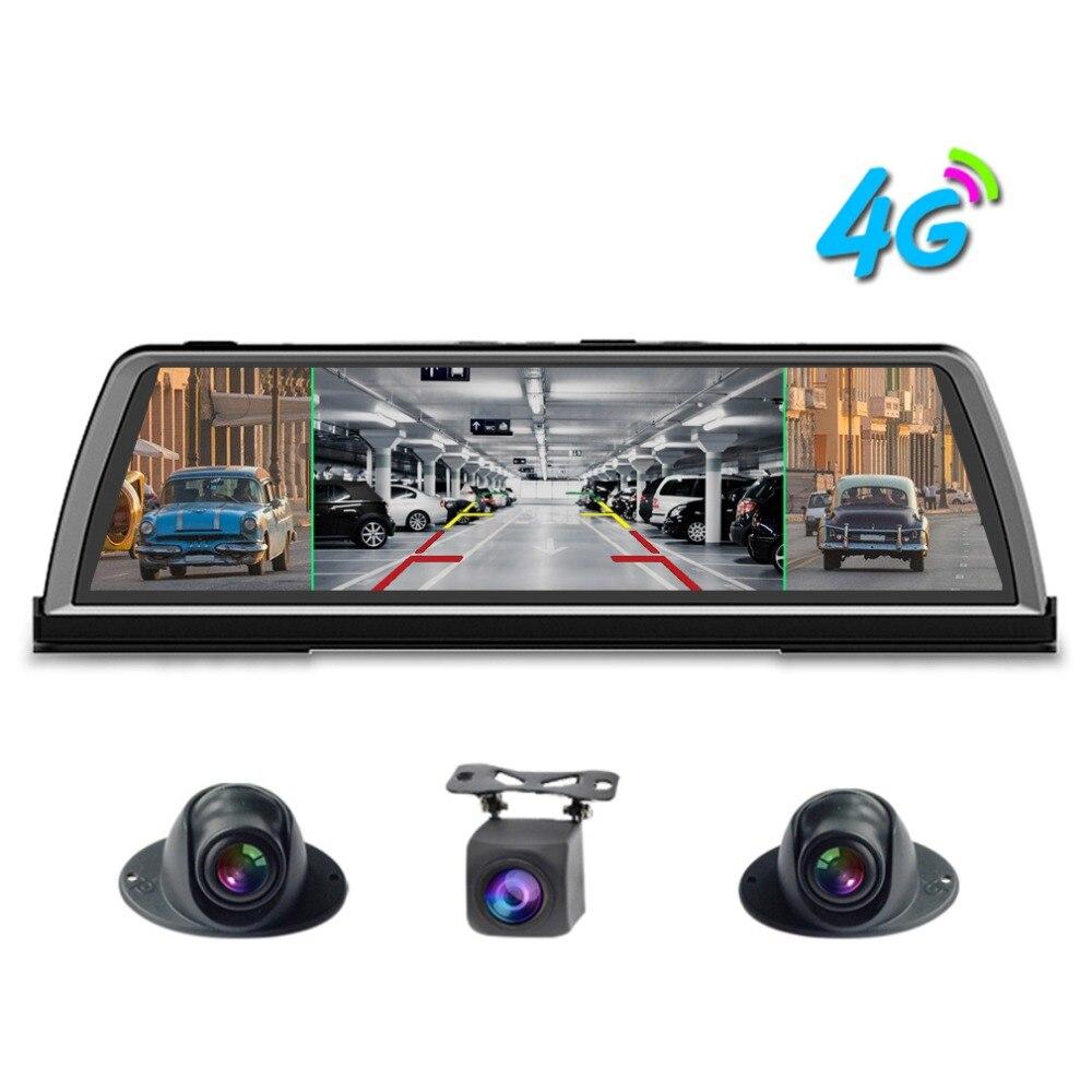 Zuczug 360 degrés panoramique tableau de bord voiture dvr dash cam 4CH caméras enregistreur 10