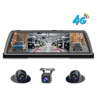zuczug 360 degree panoramic dashboard car dvr dash cam 4CH Cameras recorder 10 Touch Android rear view mirror GPS ADAS WIFI