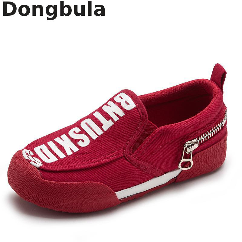 Spring Children Baby Shoes For Boys Loafers Moccasins Girls Casual Canvas Shoes Kids Flats Student Outdoor Soft Bottom Sneakers