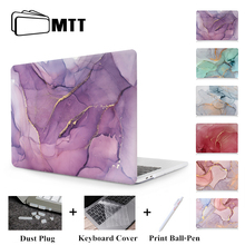 MTT Laptop Case For Apple Macbook Air Pro Retina 11 12 13 15 Marble Hard Cover for mac book 13.3 inch With Touch Bar a1706 a1502 цена и фото