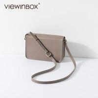 Viewinbox Винтаж модные кожаные мини-плоский Курьерские сумки Для женщин Джокер сумка почтальона изысканные плечо сумка через плечо Для женщин