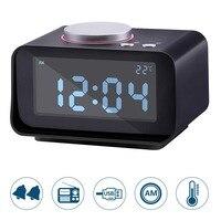 Дети цифровой будильник с FM Радио ЖК-дисплей Дисплей Повтор электронный стол тумбочка часы время даты ночник термометр