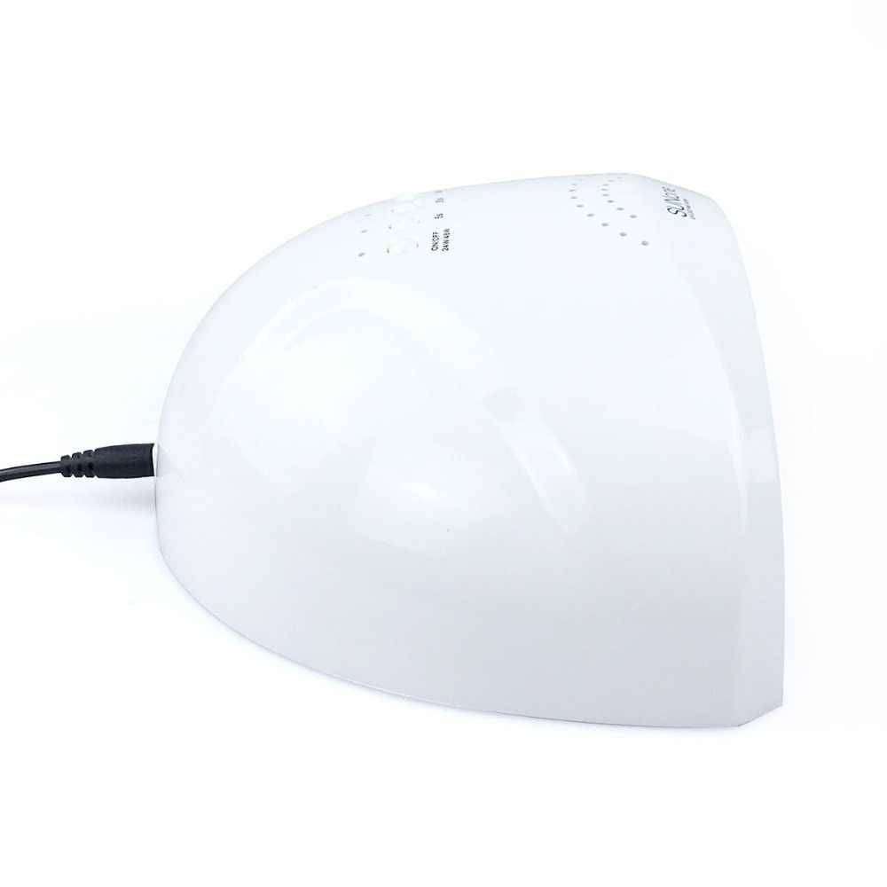 УФ лампа 48 Вт Sunone светодиодные УФ-Сушилка для ногтей быстрое высыхание Гель-лак леча светильник с нижней 5/30/60s таймер Светодиодная лампа ЖК-дисплей Дисплей Гибридный лампа