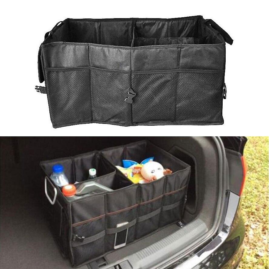 bbqatfuka multi purpose car trunk suv cargo organizer foldable storage box bag tool case