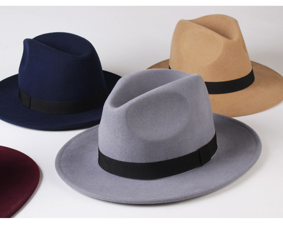FURTALK Women Men Fedora Hat 100% Australian Wool Felt Fedora Hat Wide Brim Vintage Jazz Hat chapeau femme Autumn Winter Cap