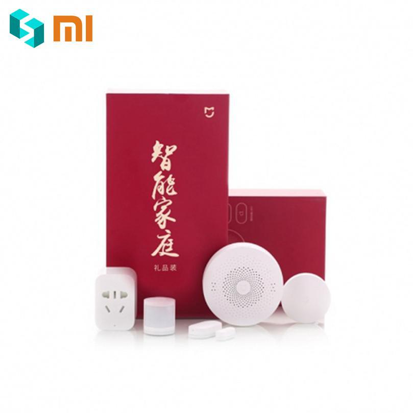Original Xiaomi Mijia contrôle Intelligent Kits maison porte fenêtre corps humain capteur sans fil commutateur dispositif ensemble Zigbee prise ensemble