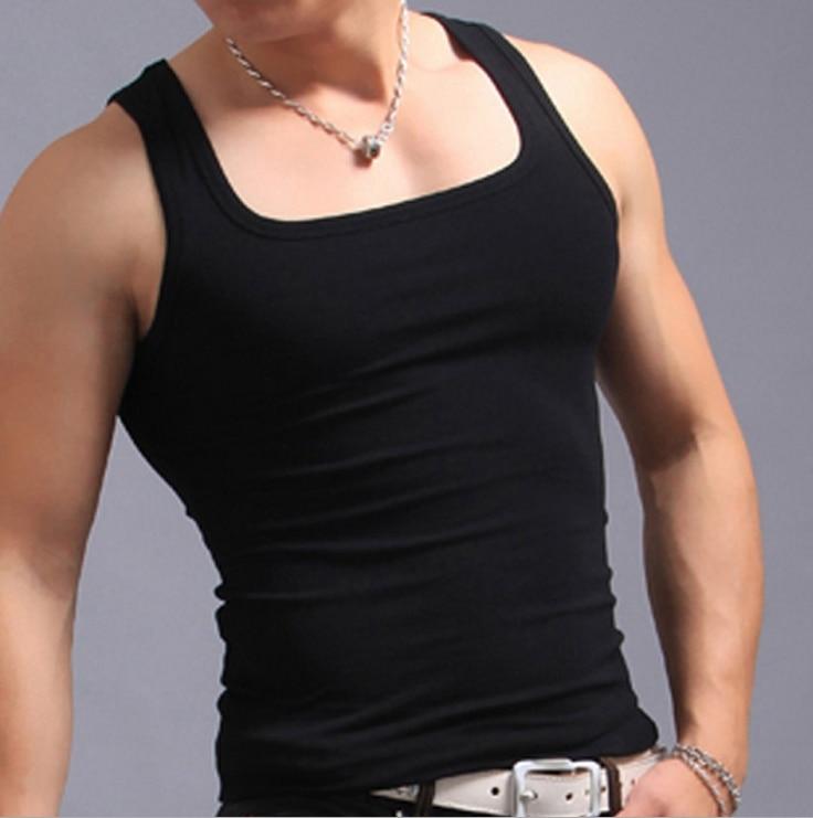 3pcs Lot Men S Cotton Square Cut Gym Tank Top Comfort Soft