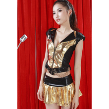 2016 Fashion New V neck Golden Novelty Mini Dress Women Sexy Slim Hip Hop Club Party Sequin Dress Girls Vestidos Mujer Sex