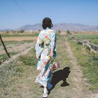 2017 Traditional japanese woman clothing Retro Japanese kimono dress