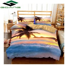 GOANG 3d bedding Sets bed sheet duvet cover pillow summer seaside 100% polyester king size set Beach home textiles