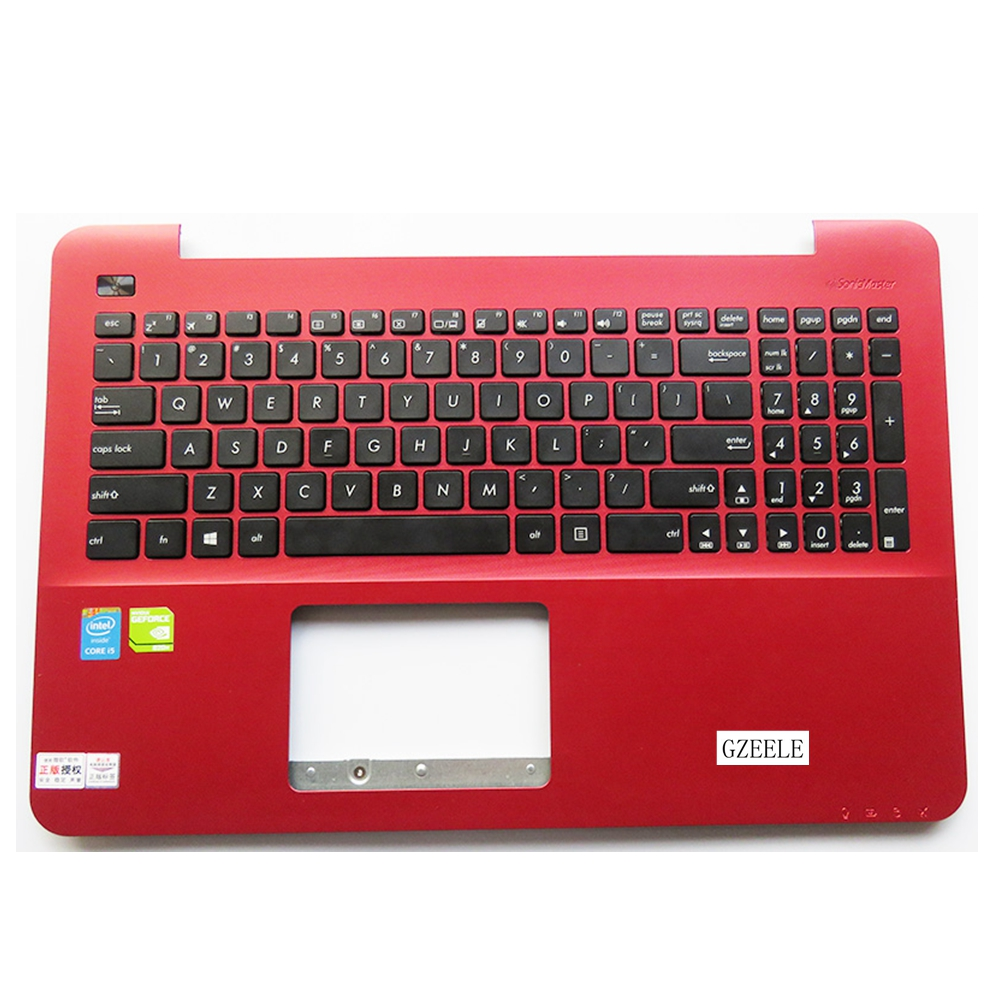 New For Asus K555 A555 X555 K555L A555L X555L W519L Y583L Laptop keyboard US Version keyboard  C case red laptop keyboard for asus ux51 ux51vz 9z n8bbu h01 with us version