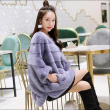 New real mink fur coat women winter thick warm natural