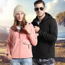 купить Men Women Softshell Fleece Hiking Jacket Autumn Windproof Waterproof Male Running Sports Trekking Outdoor Outwear Coat дешево
