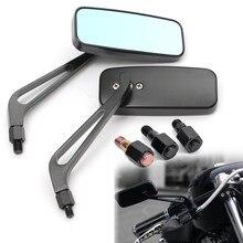 2 шт 8 мм 10 мм алюминиевый мотоцикл прямоугольник заднего вида боковое зеркало для Honda для Yamaha