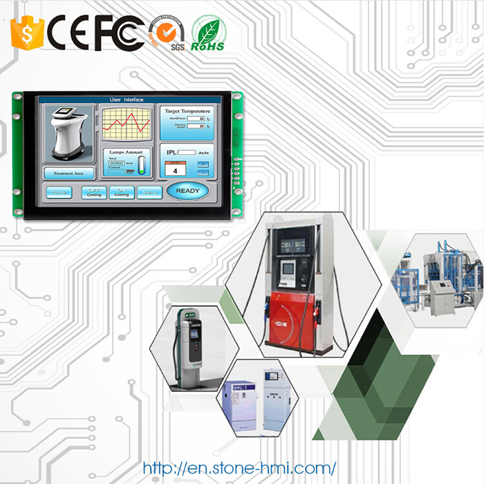 Embedded touch screen 7 inch TFT LCD module with controller board for equipment control panel