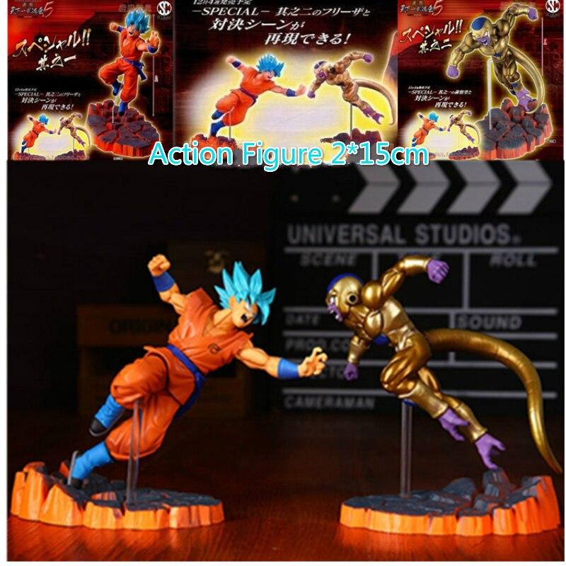 Action Figure LUCKY PIGLET 15cm Dragon Ball Freezer VS Goku Z  Super Saiyan God PVC Model KIDS Toy Gift for children and teenage