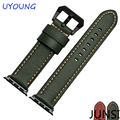 High Quality Genuine Leather Watchband For Apple Iwatch band 38mm 42mm With Adapter