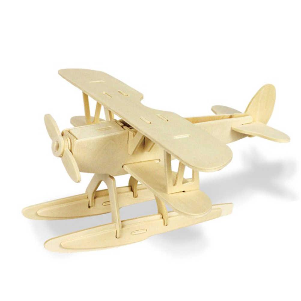 木製シミュレーション飛行機組立ビルディングブロックモデル 3D 飛行機ブロック教育玩具ギフト子供