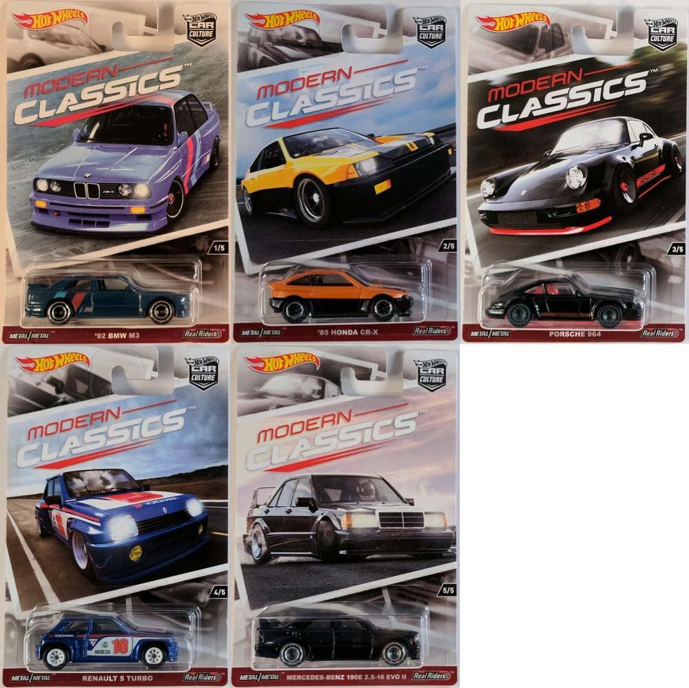 Hot Wheels Car 1:64 Car Culture Modern Classics HONDA RENAULT Collector Edition Real Riders Metal Diecast Model Car Kids Toys