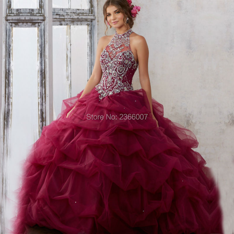Popular Burgundy Quinceanera Dresses Buy Cheap Burgundy Quinceanera Dresses Lots From China