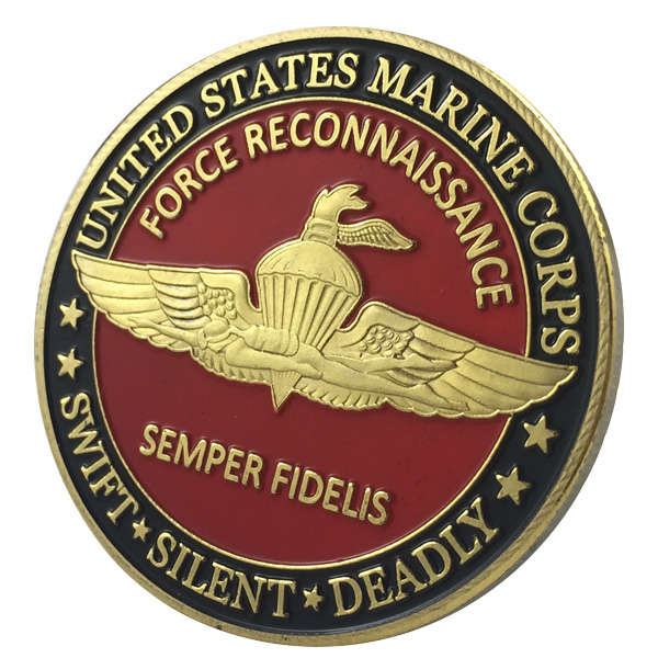 US $5 29 |United States Marine Corps Semper Fidelis Swift*Silent*Deadly  Gold Plated Challenge COIN/MEDAL 1102#-in Pins & Badges from Home & Garden  on