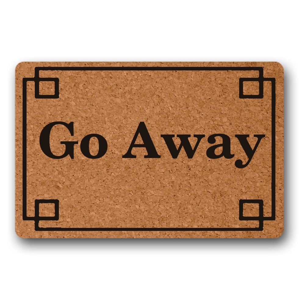 Hallway Go Away decor front door mat mats outdoor entrance indoor funny doormats for entrance door outdoor in Mat from Home Garden