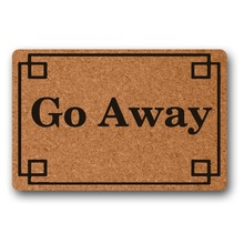 Hallway Go Away decor front door mat mats outdoor entrance indoor funny doormats for