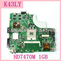 K43LY Motherboard HD7470M 1GB HM65 K43LY Mainboard For ASUS X44H X84H X84HR K84HR K84LY K43LY Laptop Motherboard DDR3 Tested OK