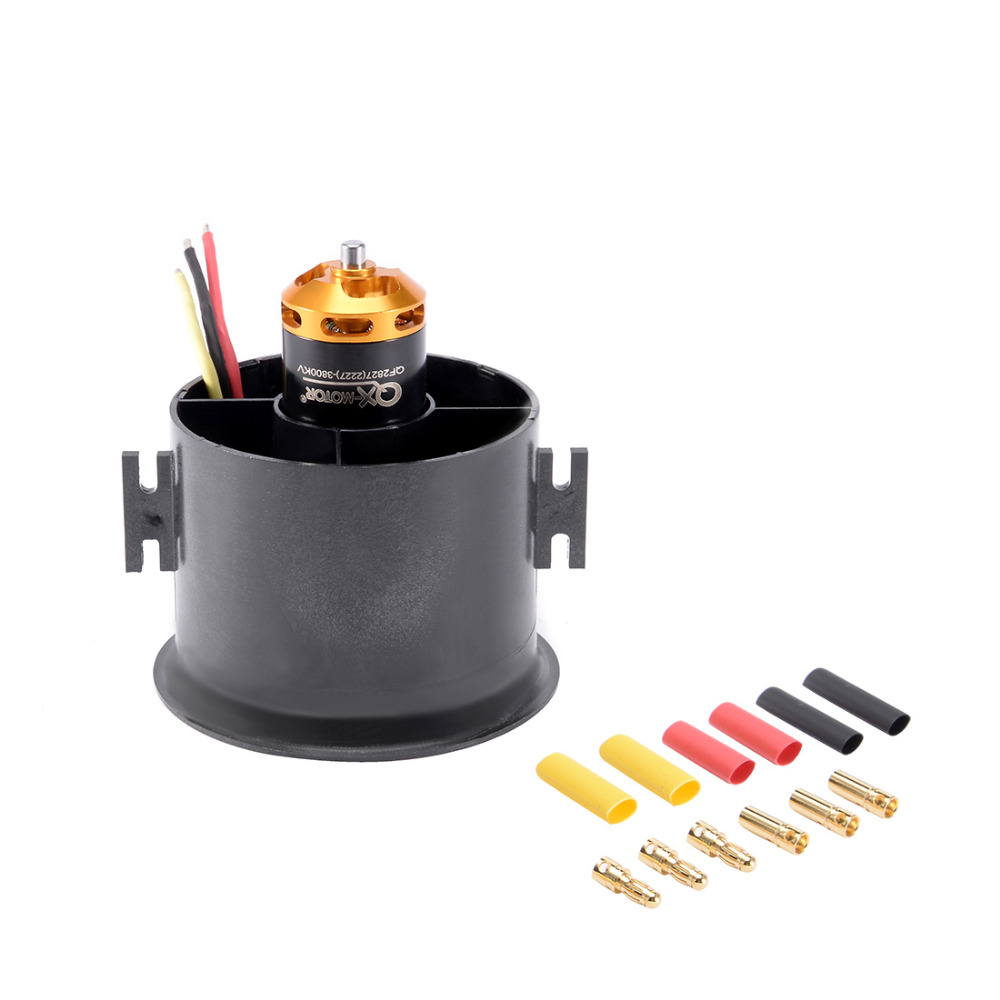 UXCELL(R) High Quality 1Pcs 6 Blades EDF Ducted Fan Set Jet Engine with 3800KV RC Brushless Motor for RC Airplane 70mm 1pcs underwater thruster brushless motor dc24v high torque waterproof motor 350kv 4023 micro motors for rc airplane parts