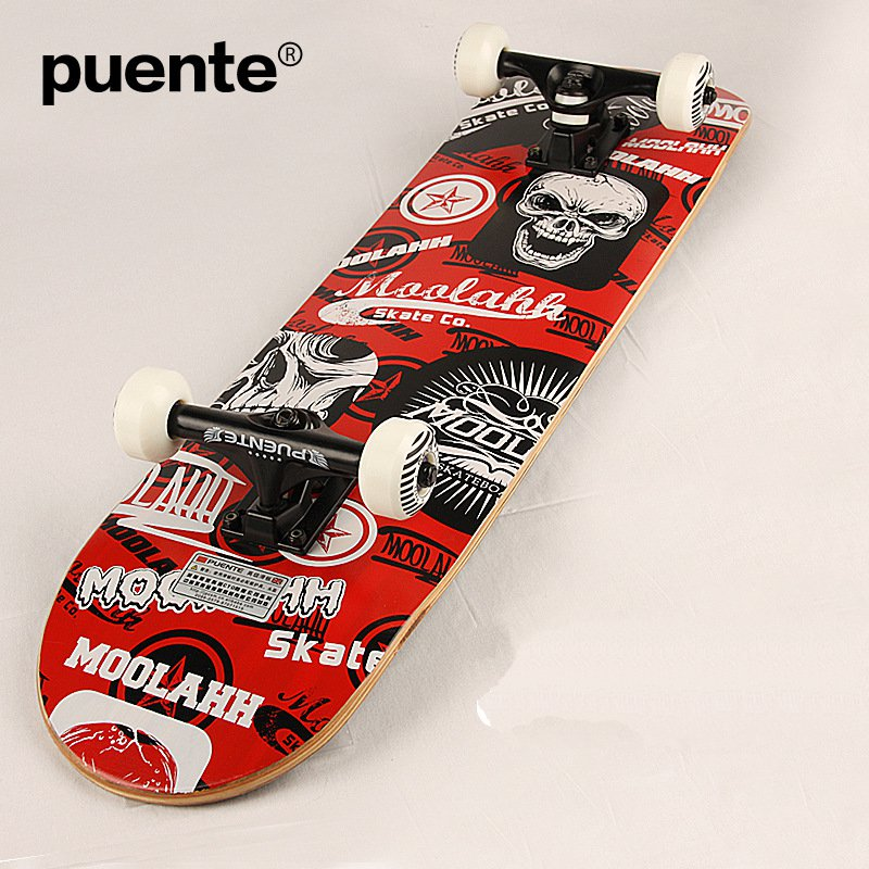 US $101 25  PUENTE Brand New 4 Wheels Skateboard Highway Long Board Maple  Adult Extreme Sports Scooters Cruiser 31