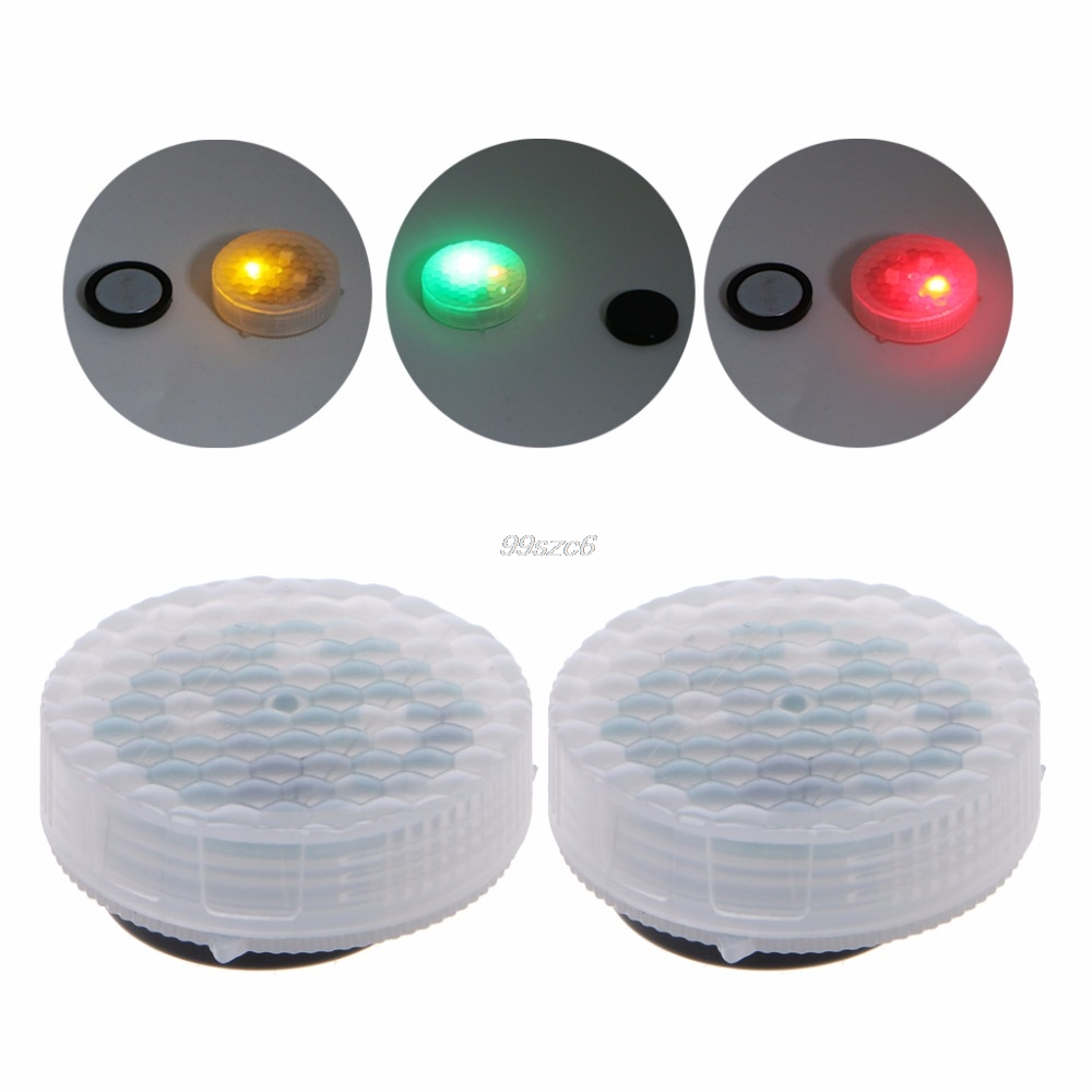 1 Pair Universal Waterproof Wireless Car Door LED Safety Warning Light Strobe Flicker Anti Collision Flash Light 2-TYPE New