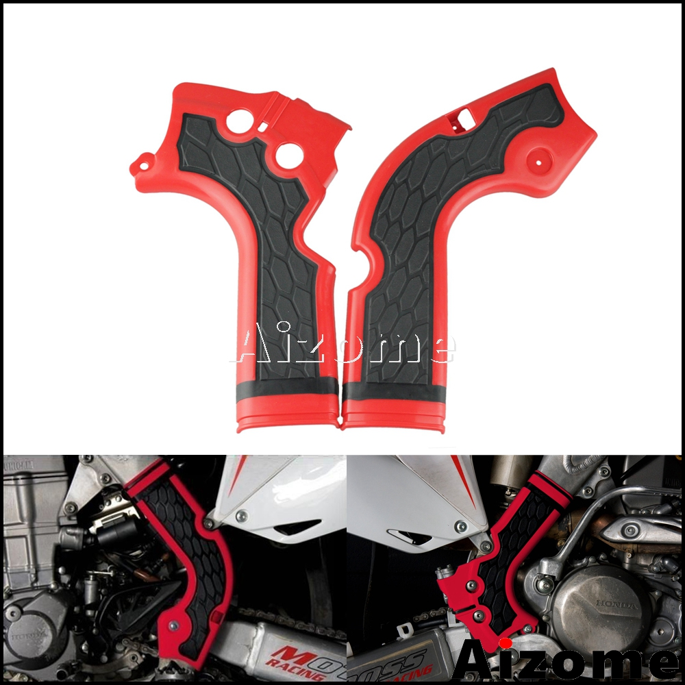 Motorcycle X-Grip Frame Guards For Honda CRF250R 14-16 CRF450R 13-16 Motocross X-Grips Red