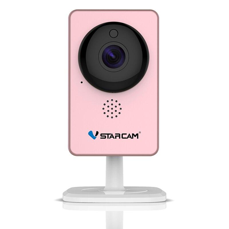 VStarcam WiFi Mini cámara panorámica visión nocturna por infrarrojos alarma de movimiento inalámbrico Monitor de vídeo cámara IP C60S rosa