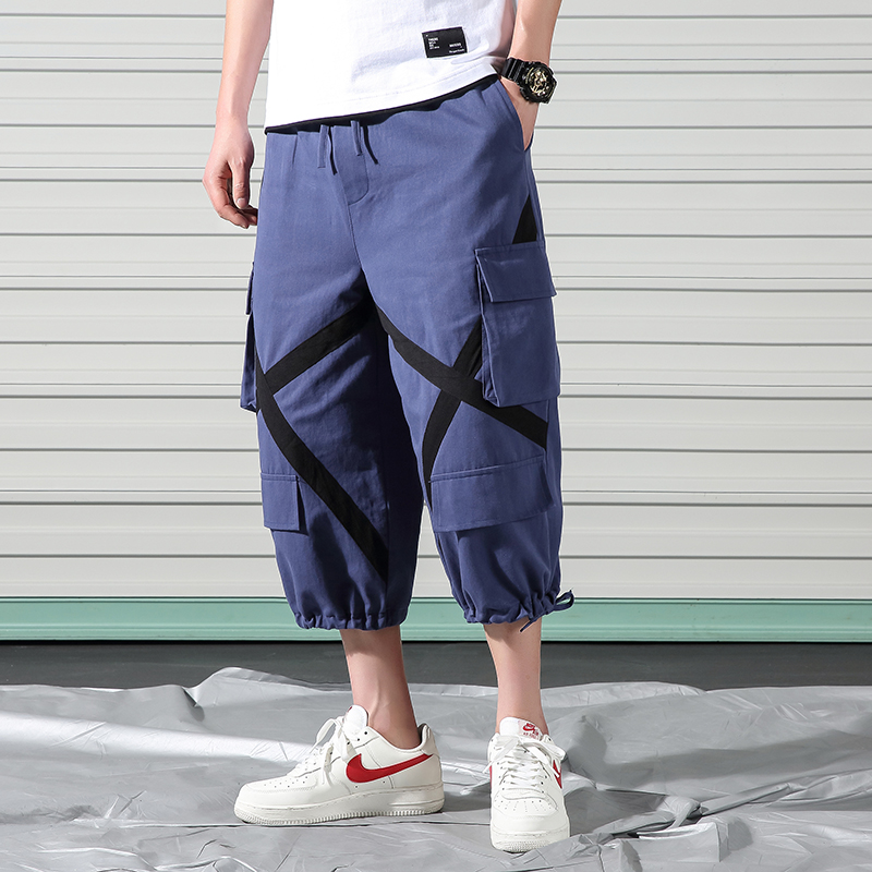 Linen Trousers Harlan-Pants Loose Large Men's Cotton Summer And Feet Retro Width