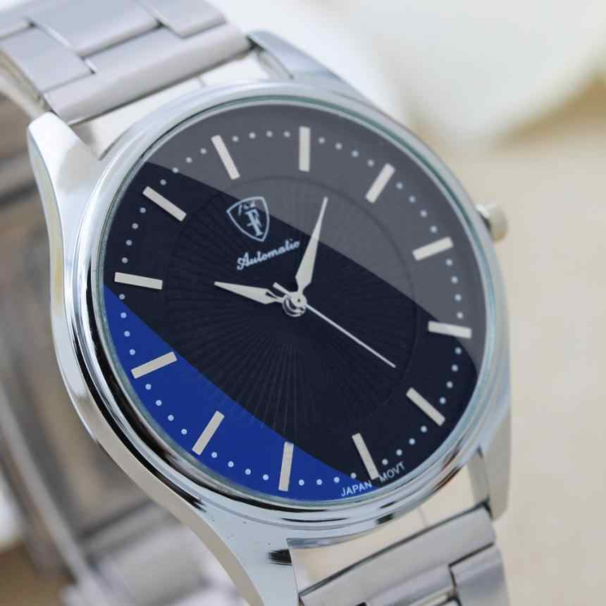 Esporte Banda de Aço Inoxidável relógio Ocasional dos homens do Design simples Vogue Relógio de Pulso horas de relógio de Quartzo de Negócios relogio masculino # D