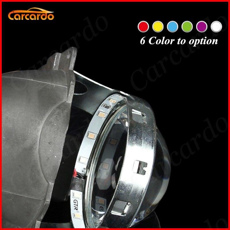 2 PCS LED Multi-cor Carro Diabo Olho 360 Graus Brilho SMD Demon Eyes - Faróis do carro - Foto 3