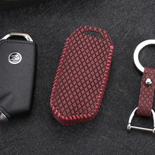 Car key cover for kia stinger 2018 3 button Case Remote Keys Shell leather key4y Free shipping