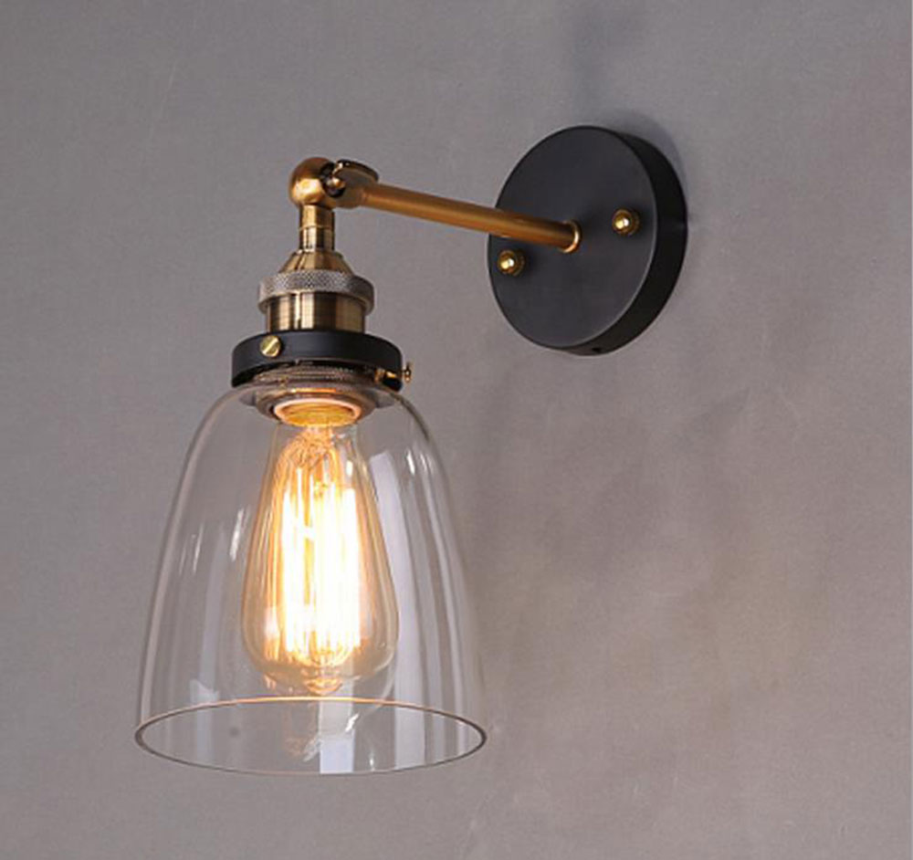 Wall Lamps Kitchen : ???(?? )AC100-240V 14.5*24cm clear ???(?? ) glass glass lampshade TWall Sconces lamp light ? ...