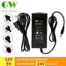 DC5V 12v 24v led電源AC100 240Vアダプタコンバータ充電器 1A 2A 3A 5A 6A 8A 10A照明用変圧器ストリップ
