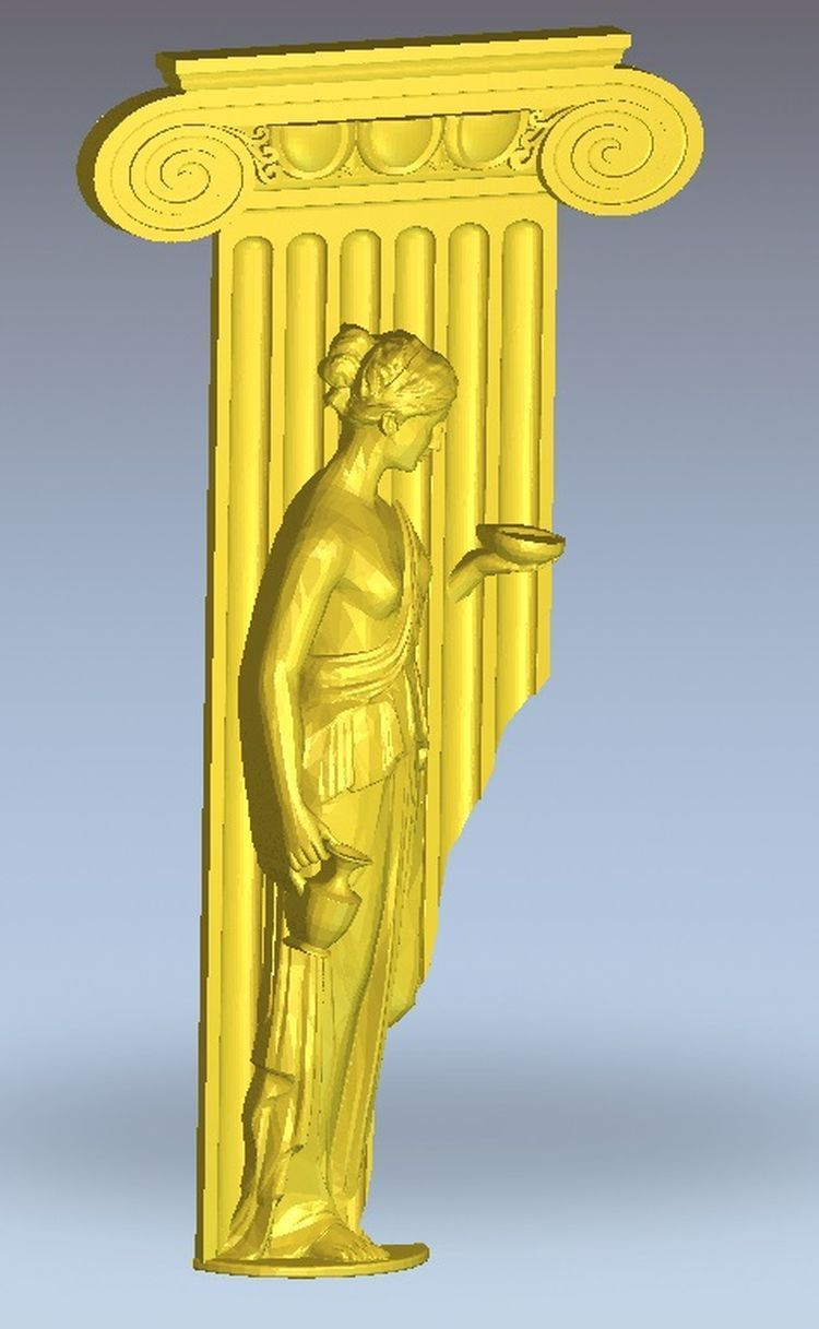 3d model relief  for cnc in STL file format Afina panno hunting 2 for cnc in stl file format 3d model relief