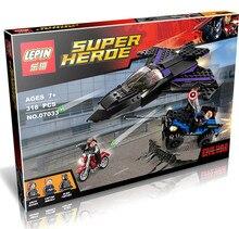 266 PCS Lepin 07033 Super Heroes Black Panther Pursuit Ant-Man Winter Soldier Building Set Minifigures Blocks 76047