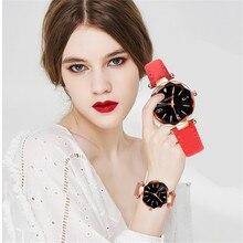 hot deal buy fashion women watches retro design star sky convex diamond dial clock luxury women's bracelet quartz wristwatches for gifts