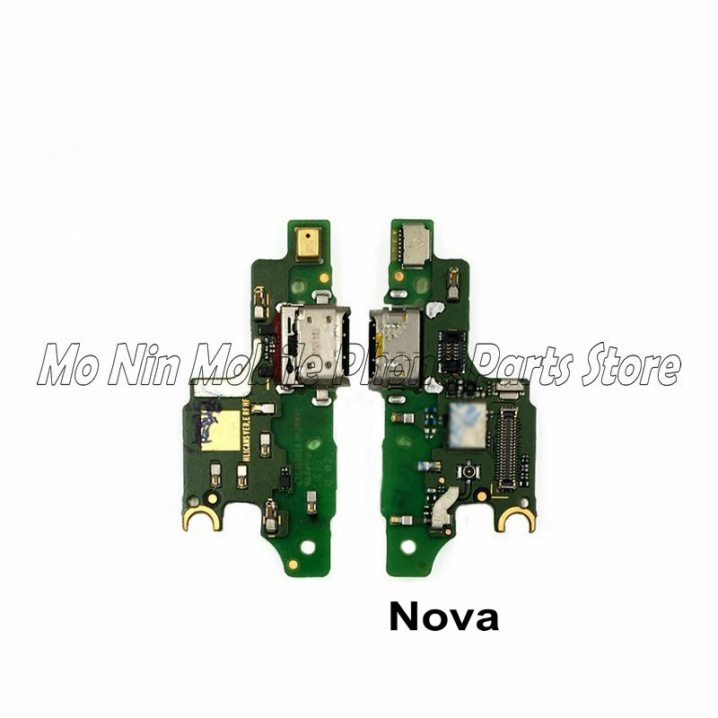 New Microphone Module+USB Charging Port Board Flex Cable Connector Parts For Huawei Nova Lite 2 2Plus Nova 2s 3 3i 4 Replacement