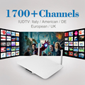 Inteligente Android TV Box Quad Core Set Top Box Con 6 Envío HD Iptv Suscripción meses Europa Sky Italia Alemania REINO UNIDO Francés rusia