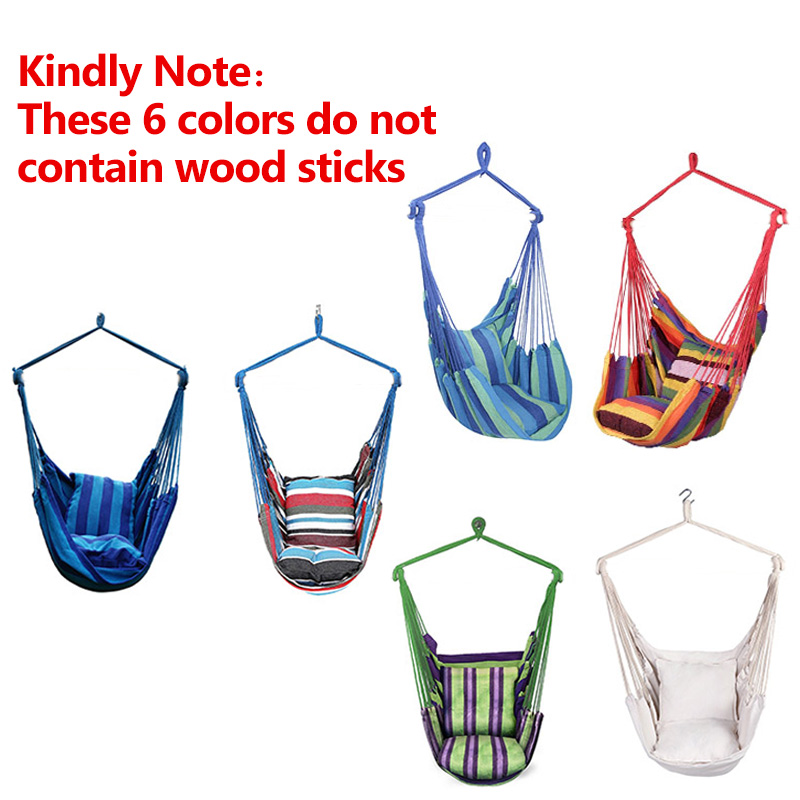 Garden Hanging Chair Swinging Hammock Hanging Rope Chair Swing Chair Seat with 2 Pillows for Garden Indoor Outdoor Dropshipping toilet seat