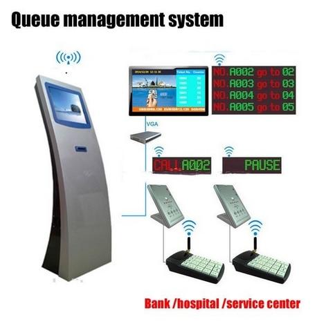 17 Custom Inch Bank Service Hospital Center Queue Management System Led TFT LCD HD 1080p Digital Signages Software