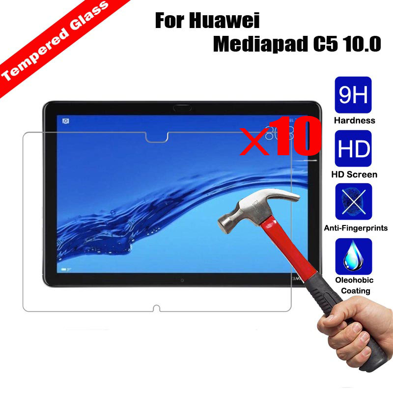 10Pcs Wholesale Genuine Tempered Glass Tablet Screen Protector Anti explosion For Huawei Mediapad C5 10.0 Glossy Film