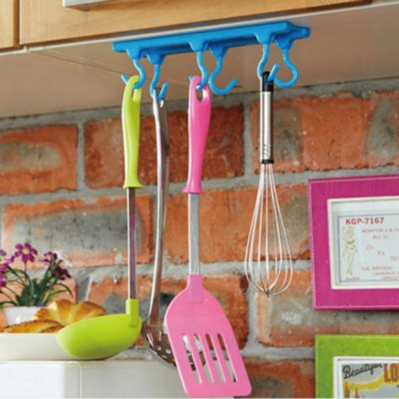 Home Kitchen Cabinets Bracket Desk Ceiling Hook Mount Hanging Holder 2kg load Storage Organizer Holder Tool Plastic Wall Mounted