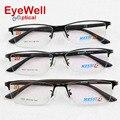 Наиболее популярных половины rim бренд оптически рамки сплава металла очки с храма ТР удобно носить горячий стиль хорошее качество 1003